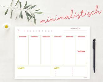 Woche_A4_minimalistisch