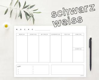 Woche_A4_schwarzweiss